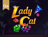 Lady Cat (match 3)