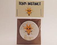 Pokemon Go Team Instinct Buttons