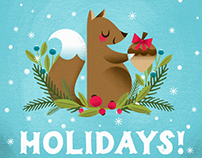 Holiday themed illustrations