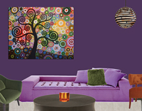 Triadic Color Scheme - Tranquil, Spiritual, Uplifting