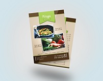 Food Menu Flyer Template Design #1