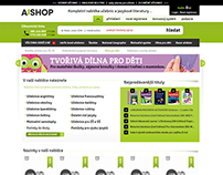 Web Design for a Bookstore / AjShop.cz