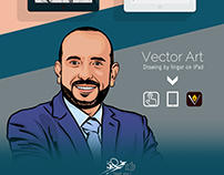 Vector Art Drawing by finger