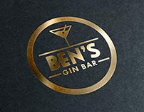Logo Design - Ben´s Gin Bar Reykjavik