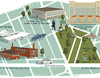 Corktown Map for DBusiness Magazine