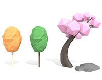 Low poly nature assets