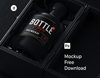 Free Bottle Mockup .psd