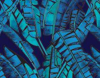 Watercolour Palm Print
