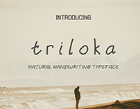 Triloka | Natural Handwriting Typeface