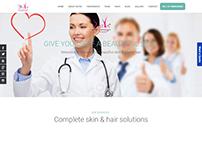 Web Design and Development for Satya Skin Laser