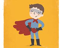 Character design publicidad gala benéfica fundación