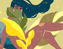 Goddess of Springtime / Illustration