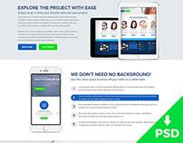 Design Agency Homepage Portfolio PSD