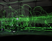 ''Plastic Space 'A' and luminous bodies in movement''