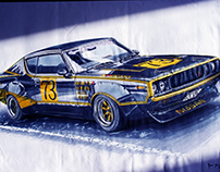 NISSAN Skyline KPGC110 Racing Edition (A2 Illustration)