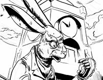 Inktober 14- White Rabbit