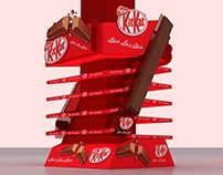 Kitkat Floor Display