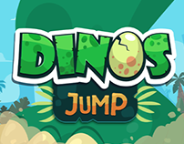 Dinos Jump - Mobile game. Kidloom