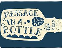 [Message in a Bottle] Handlettering