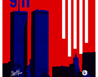 Remembering 9/11 flyer and poster design