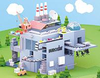 Bürosit - Isometric Factory