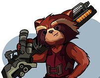 Rocket raccoon(Marvel Cinematic Universe MCU)