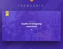 Themeunix: Web Landing page Design