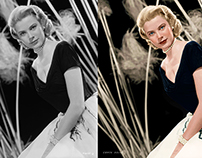 American actress and princess of Monaco, Grace Kelly.