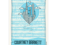 Courtney Barnett Gig Poster