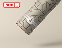 Free Tube with Label Mockup
