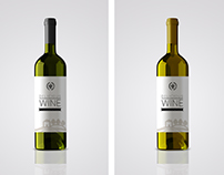 Bottle wine label mockup