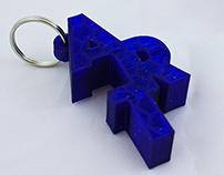 3D Printed Art Keychains