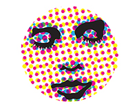 Psychedellic Pop Art Face Mural