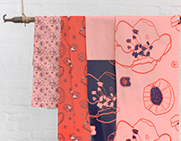 Home deco floral textile