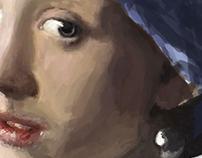 Oil Painting Vermeer Meisje met de Parel VISUAL2 Softw