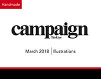 Campaign Türkiye Magazine | Handmade Illustrations