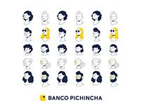 Banco Pichincha / Character Design