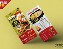 Food Menu DL Flyer PSD