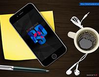Designer Desk iPhone Mockup PSD