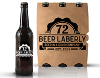 "Logo for beer bar ""Beer Laberly 72"""