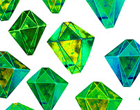 Green gemstone pattern. For All Who Love Prints!