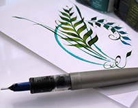 Online Calligraphy Class: Organic Pen Ornaments
