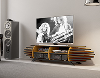 Plant - wood zeppelin TV stand