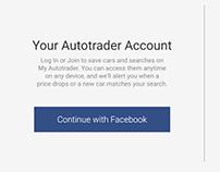 Autotrader: Login/Sign Up page