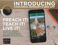 Concordia Seminary app launch promotion 2015