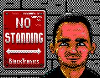 No Standing Cartoon Portrait