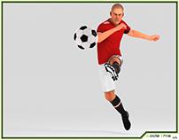 3D Model: White Soccer Player HQ