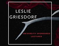 Leslie Griesdorf: University-Sponsored Lectures