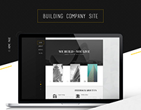 Building Company design: We Build - You Live