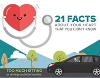 Medlife - 21 Facts About Your Heart - Infographics